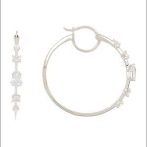 NADRI Eliza CZ 33mm Hoop Earrings
